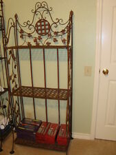"Large French iron baker's rack with 3 shelves, 67""H x 26""W x 12""D"