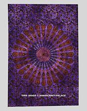Indian Peacock Tie Dye Mandala Tapestry Wall Hanging Hippie Bohemian Beach Throw