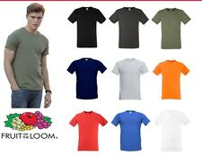 FRUIT OF THE LOOM ajusté Valueweight T-shirt toutes les tailles