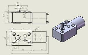 Dc Elektromotor, 90° Angle Gear 6500/100 And / Minimum 12V Dc JSX69-370