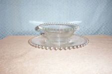 IMPERIAL GLASS CANDLEWICK MAYO BOWL & UNDERPLATE MINT