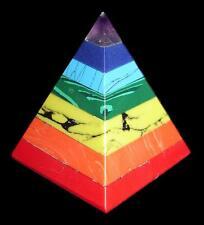 PYRAMID - CHAKRA BALANCER Crystal w/ Description & Pouch - Healing Stone Reiki