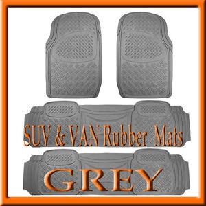 4 PCS  DODGE  CARAVAN  HEAVY DUTY  GRAY  RUBBER FLOOR MATS / FULL SET