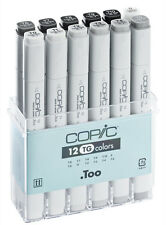 Copic Classic Marker - 12 Toner Grey Set - Refillable With Copic Various Inks