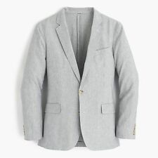 New! 38S J.Crew Linen-Cotton Ludlow Slim-Fit Fine Stripe Mens Blazer Sport Coat