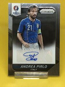 Andrea Pirlo Panini Prizm Euro 2016 Auto Signature Card Italy Juventus Legend