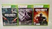 Call of Duty: Black Ops I II III Trilogy - Microsoft Xbox 360 Rare Game Complete