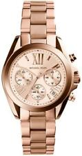 Michael Kors Ladies Bradshaw Mini Chronograph Rose Gold Watch - MK5799