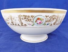 Antique Porcelain Punch Bowl Hand Painted & Gilded Anstice Horton & Rose ca 1805