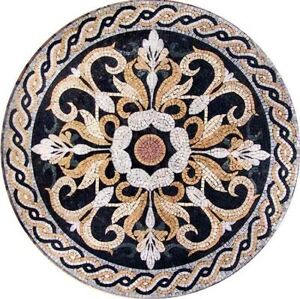 36'' Marble Table Top Mosaic Random Pietradura Work Home Decor