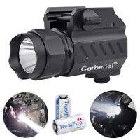 Tactical LED G02 Pistol Gun Flashlight Handgun Rail Mount Torch Hunting Light US