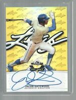 2014 Leaf Valiant Draft Jacob Gatewood Gold Prismatic Auto RC Rookie /10