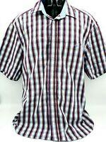R.M WILLIAMS Mens  Stripe Short Sleeve Shirt  ~ REGULAR FIT Size 3XL