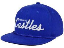 Crooks & Castles Blue Team Castles 6 Panel Adjustable Snapback Cap Hat