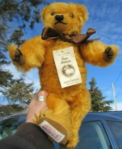 """VINTAGE MERRYTHOUGHT ENGLAND MOHAIR GROWL TEDDY BEAR 16"""" WEB CLAWS HOBBY CENTER"""