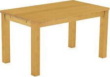 Esstisch Esszimmer Massivholz Tisch 140x80cm Pinie, Farbton Eiche Honig hell neu