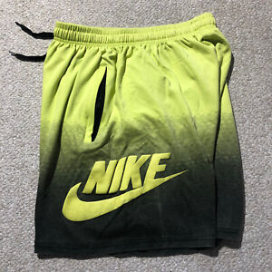 Nike Sweat Shorts Yellow Green Fits Mens Medium/Large