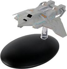 #68 Star Trek Federation Attack Cruiser Die Cast Metal Ship w Mag- UK/Eaglemoss