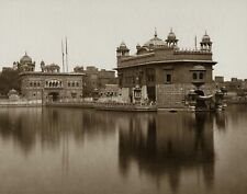 1870s INDIA SIKH  GOLDEN TEMPLE  by BOURNE PHOTO  (169-y)
