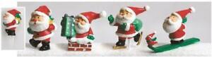 4 Plastic Christmas Picks Santa Cake Cupcake Decoration Yule Log Topper 60mm