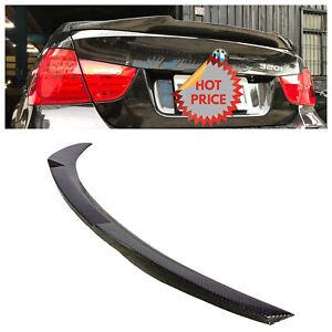 BMW 06-12 M4 STYLE REAL CARBON FIBER TRUNK SPOILER FOR ALL E90 SEDAN *US SELLER*