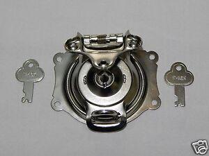 Camel Back Steamer Trunk Foot Locker Box Lock Nickel Plated with Keys