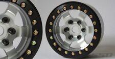 """SSD RC 1.9"""" Rock Racer Beadlock Wheels (Silver) (2) SSD00275"""
