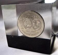 """1974 Canada Winnipeg Centennial Commemorative Dollar 2"""" Paperweight Value Lot"""