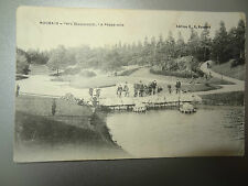 alte AK Feldpostkarte Edition Roubaix-Parc Barbieux Passerelle Promenade Brücke