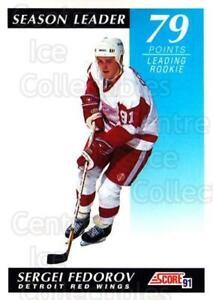 1991-92 Score Canadian English #298 Sergei Fedorov
