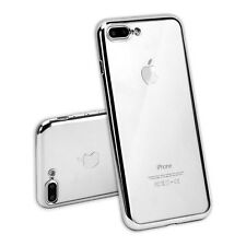 iPhone 7 Plus Case TPU Bumper Cushion + Anti-Scratch Rubber Gel Clear Back Cover