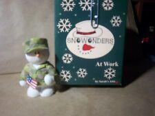 "Sarah's Attic Snowonders (At Work) ""Us Hero""-2002- soldier snowman in camo."