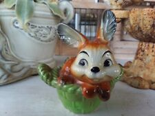 New ListingVintage Goebel Bunny Rabbit in Green Basket #34 822 W Germany