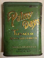Antique Advertising Tobacco Tin - 1910 Palmy Days - Rare Find!