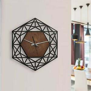 Wall Clock Australian Made Middle Eastern Art Wood Combination