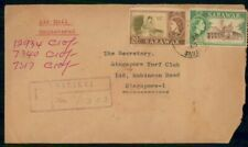 Mayfairstamps Sarawak 1960 Sarikei Registered Dual Franked Airmail Cover wwf4755