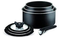 Tefal Ingenio Essential Non Stick 7pc Saucepan Pan Set Kitchen Cookware Black5