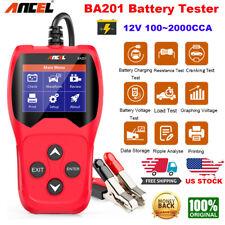 Ancel BA201 Car Battery Tester Analyzer Cranking Charging Test 12V CCA100~2000