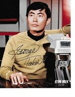 "George Takei Star Trek ""Sulu"" Hand Signed Color Photograph Autograph In Person"