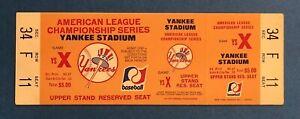 1970's New York Yankees American League Championship Full Ticket