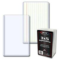 4 Packs (100) BCW Brand 3 x 5 (INTERIOR) Topload Card Storage Holders