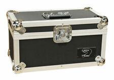 "7"" Singles Vinyl Record Aluminium Zilla DJ Flight Carry Case Black 200 Tough"