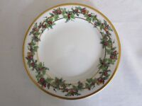 """MACYS ROYAL GALLERY The Holly & The Ivy Salad Dessert Plate 8 1/4"""" 1993 Holiday"""