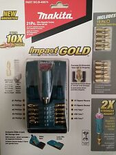 Genuine Makita 21-Piece Impact Gold Ultra Magnetic Driver Insert Drill Bit Set