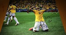 Neymar da Silva Santos Brazilian Soccer Star Signed 11x14 Photo Proof COA NS1