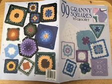 pattern 99 GRANNY SQUARES TO CROCHET leisure arts EASY 1998  afghans pillows NEW