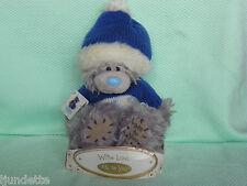 Me To You peluche ourson 13 cm *-* CHALEUR *-* bonnet et pull bleu blanc