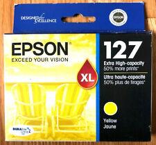 EPSON 127XL Yellow Ink Cartridge T127420 Sealed EXP 5/2021 New Sealed Free Ship