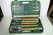 18pc Bbq grill set in plastic case by FlamePro (missing grill brush) New Other