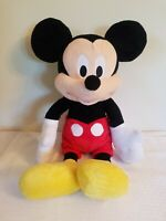 """Mickey Mouse 24"""" big plush with yellow shoes and red shorts Walt Disney"""